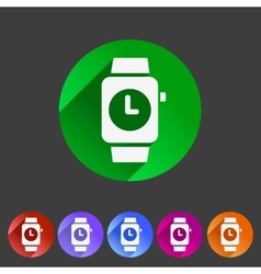 Watch icon sign symbol logo label set vector image