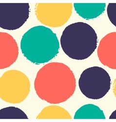 Watercolor polka dots vector