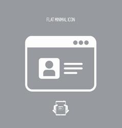 Web profile - flat minimal icon vector