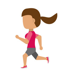 Woman running cartoon vector