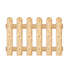 Wooden fence isolated icon vector