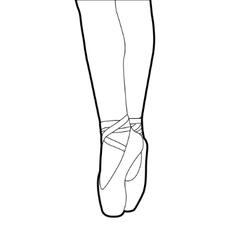 Ballet slippers vector
