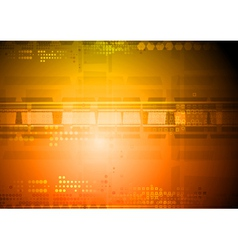 Orange abstract design vector image