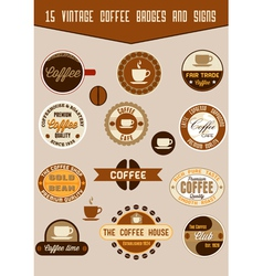 vintage coffee badges vector image