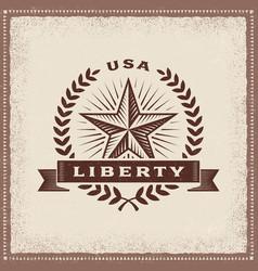 vintage usa liberty label vector image