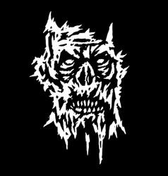 Creepy demon face vector