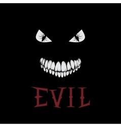 evil eyes and teeth vector image