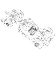model speed car abstract drawing tracing vector image