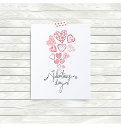 Mood board template valentines day quote vector