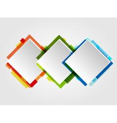 Romb Design Frames vector image