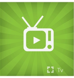 Tv icon in minimal style vector image vector image