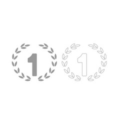 first place the grey set icon vector image vector image