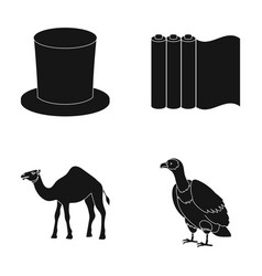 hat roll of paper and other web icon in black vector image