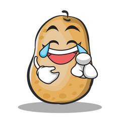 joy potato character cartoon style vector image
