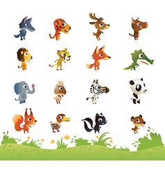 Large Collection of Cartoon Animals vector image vector image