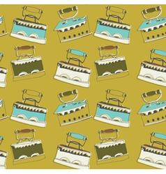 vintage iron wallpaper vector image vector image