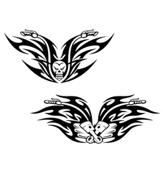 Black bikes tattoos vector image vector image