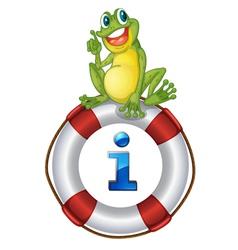 Frog Kiosk Sign vector image