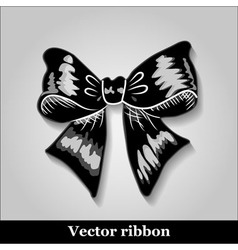 Gift bows with ribbons black color vector image vector image