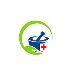 herbal medicine traditional logo vector image vector image