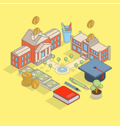 investment in education concept flat vector image vector image