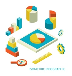 isometric business finance analytics chart vector image vector image