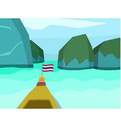 phi phi island in flat style landscape vector image