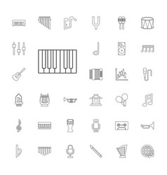 33 musical icons vector