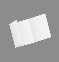 3d brochure mockup vector image