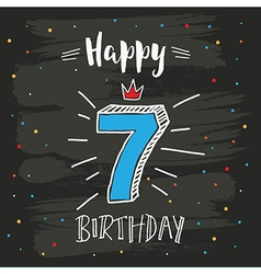 7th birthday vector image