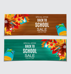 abstract back to school sale vector image
