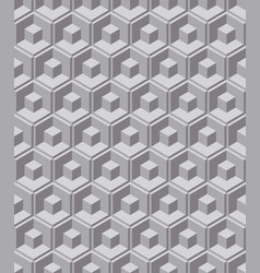abstract geometric hexagon line seamless pattern vector image