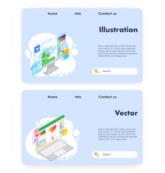 art website landing page design template vector image