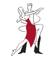 ballroom dancing couple tango vector image