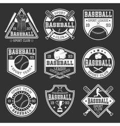 Baseball Monochrome Logos vector image