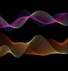 beautiful linear color waves vector image