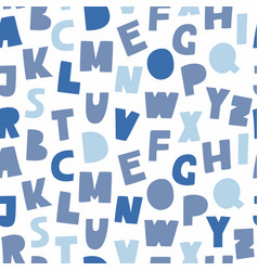 blue cutout abc seamless pattern vector image