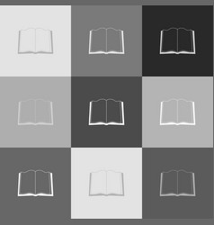 book sign grayscale version of popart vector image