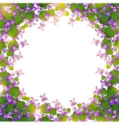 Border wild violet vector