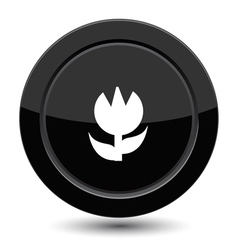 Button with flower vector