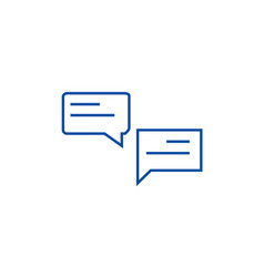 Chats line icon concept chats flat symbol vector
