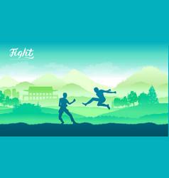 china warriors martial arts vector image