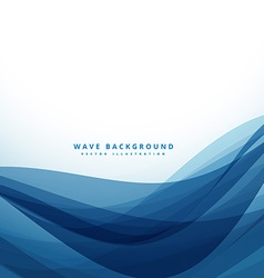 Clean blue business style wave background vector