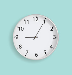 clock on mint background vector image