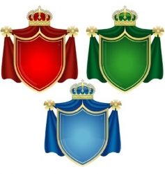 Coat of arms banners vector