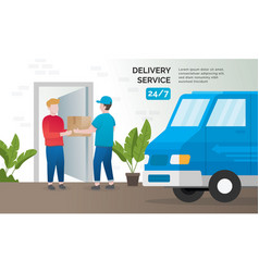 concept of delivery services vector image