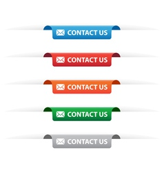 Contact us paper tag labels vector image