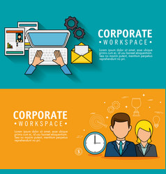 Corporate related design vector