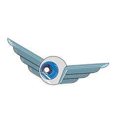 creativity wings eye design idea image vector image