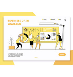 Data analysis landing page digital marketing vector